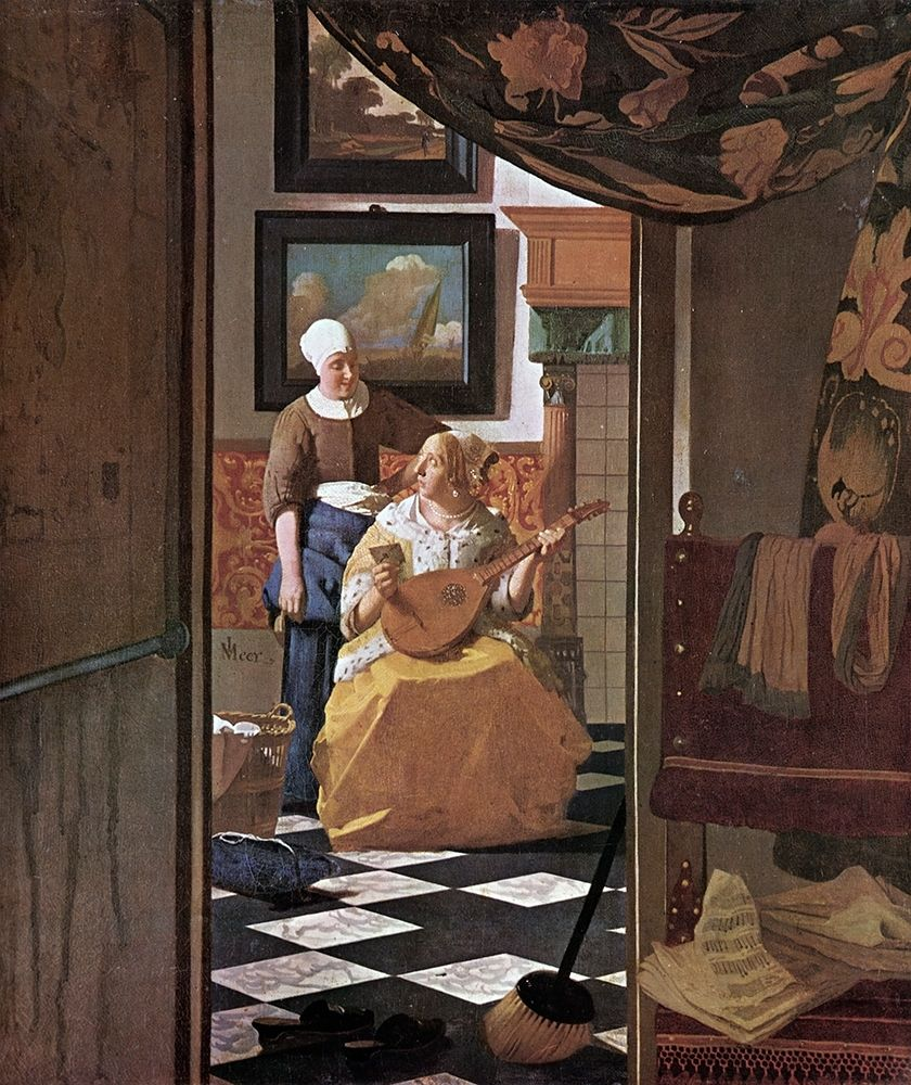 konfigurieren des Kunstdrucks in Wunschgröße The Love Letter von Vermeer, Johannes