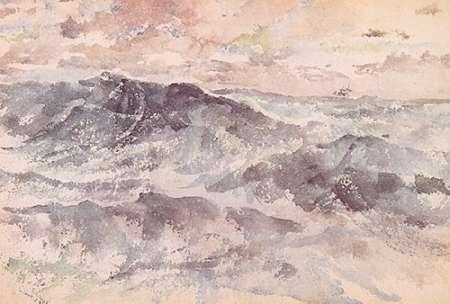 konfigurieren des Kunstdrucks in Wunschgröße Arrangement In Blue And Silver The Great Sea 1885 von Whistler, James McNeill