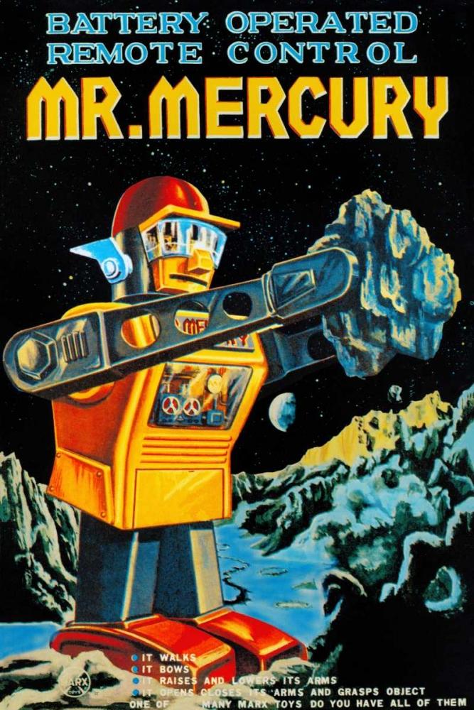 konfigurieren des Kunstdrucks in Wunschgröße Battery Operated Remote Control Mr. Mercury von Retrobot