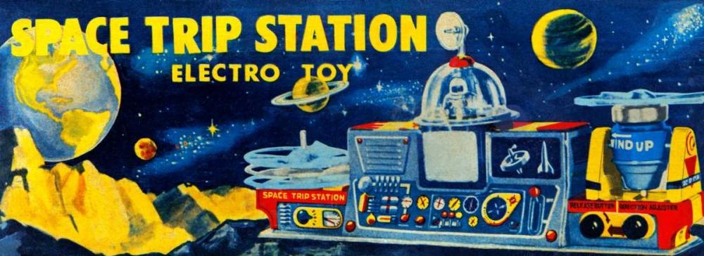 Space Trip Station Electro Toy von Retrobot <br> max. 135 x 48cm <br> Preis: ab 10€