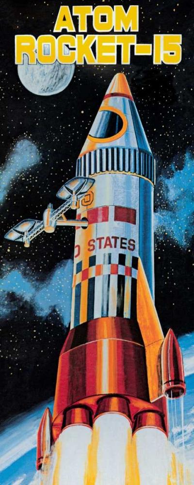 konfigurieren des Kunstdrucks in Wunschgröße Atom Rocket-15 von Retrobot