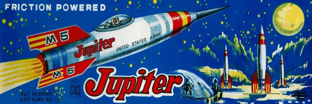 konfigurieren des Kunstdrucks in Wunschgröße Friction Powered Jupiter M-5 von Retrobot