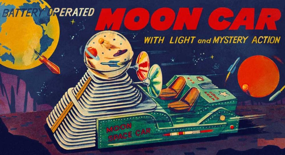 Moon Car von Retrobot <br> max. 122 x 66cm <br> Preis: ab 10€
