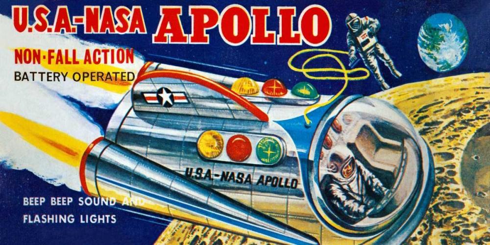 U.S.A. - NASA Apollo von Retrobot <br> max. 122 x 61cm <br> Preis: ab 10€
