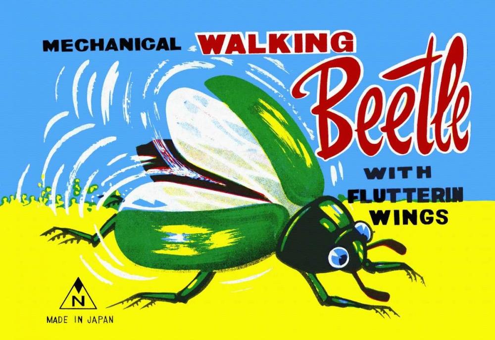 konfigurieren des Kunstdrucks in Wunschgröße Mechanical Walking Beetle von Retrobot