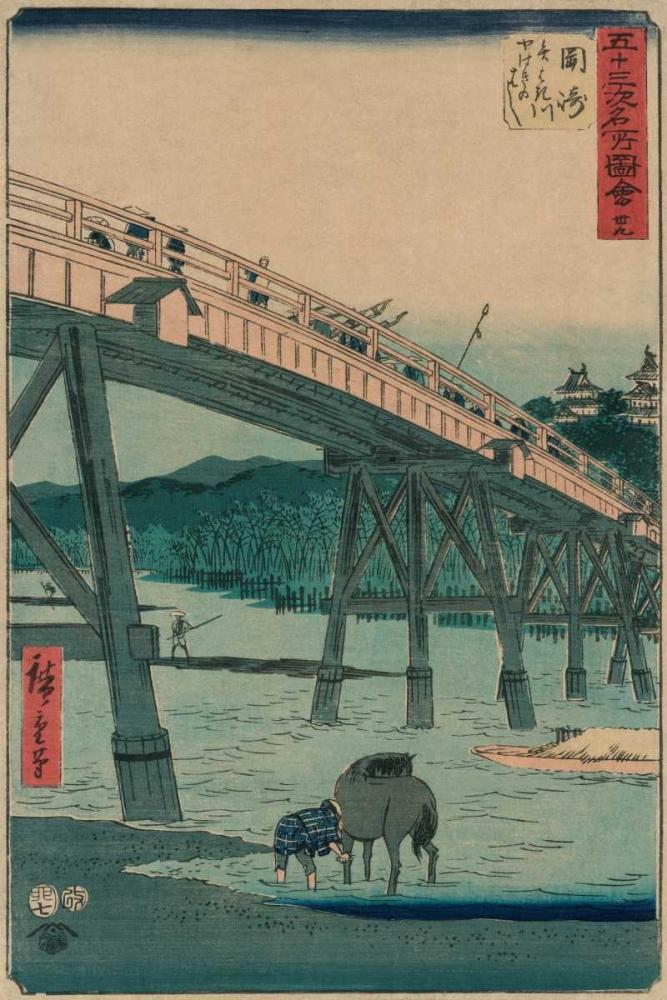 konfigurieren des Kunstdrucks in Wunschgröße Okazaki von Hiroshige, Ando