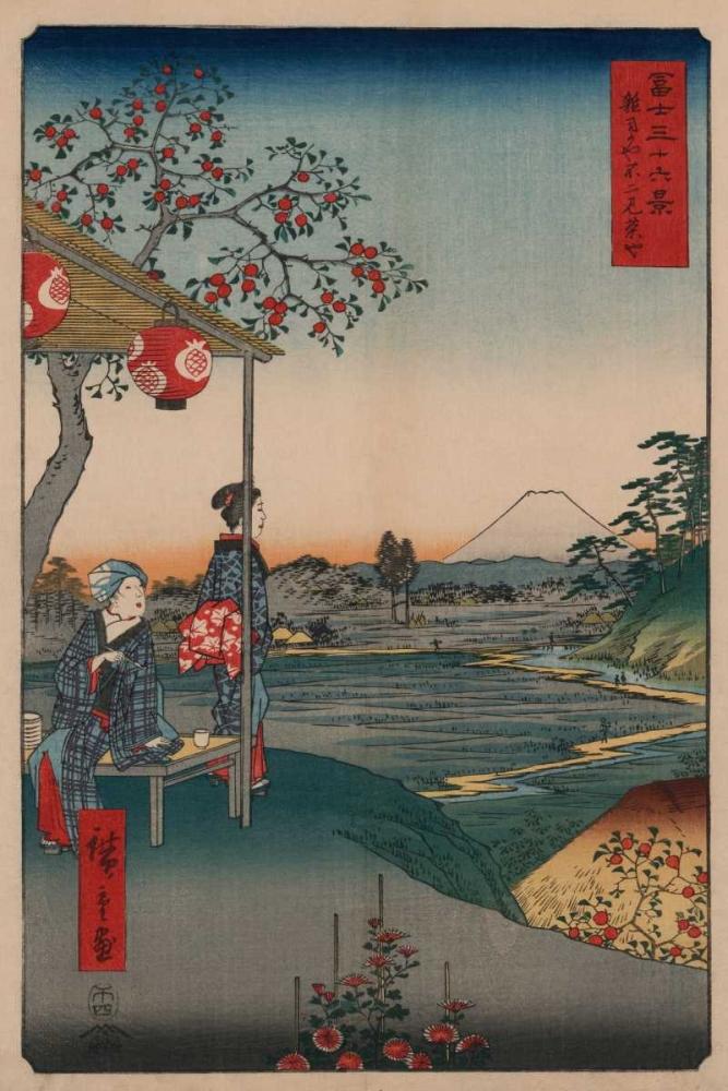 konfigurieren des Kunstdrucks in Wunschgröße Fujimi Teahouse at Zoshigaya von Hiroshige, Ando