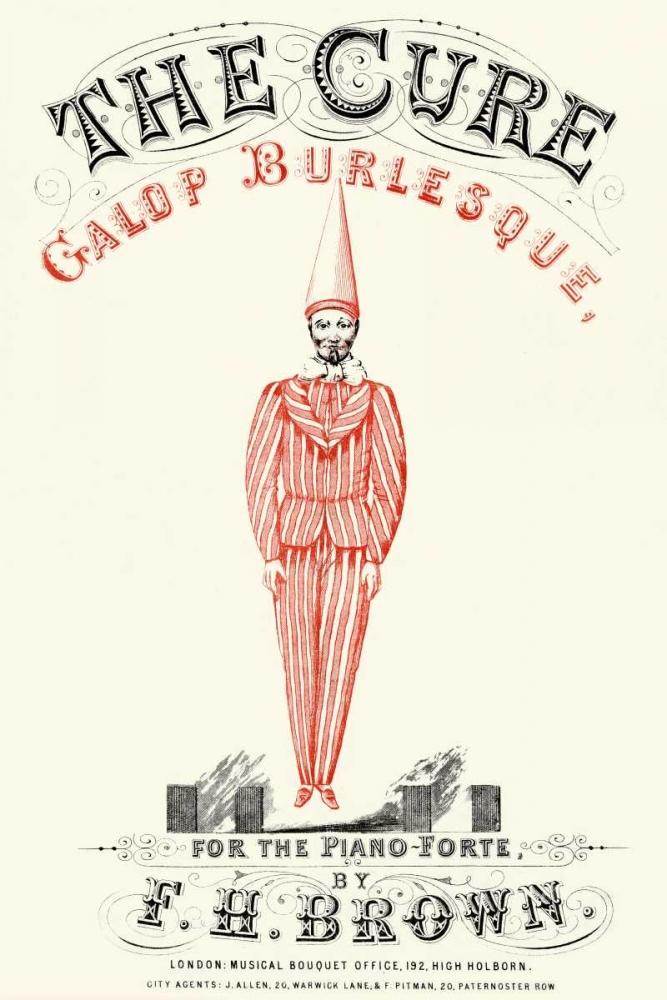 konfigurieren des Kunstdrucks in Wunschgröße Cure - Gallop Burlesque von Advertisement