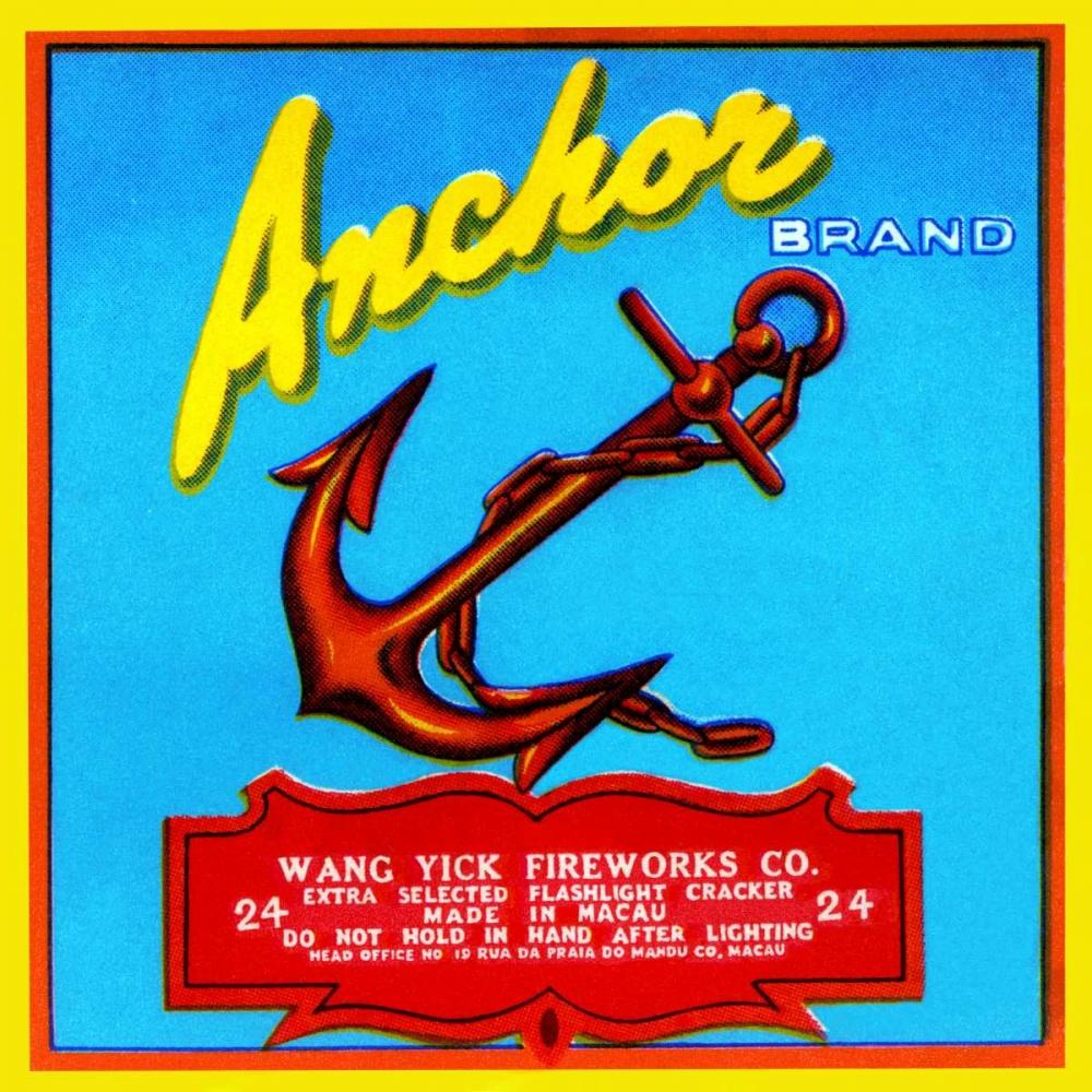 konfigurieren des Kunstdrucks in Wunschgröße Anchor Brand Fireworks von Unknown