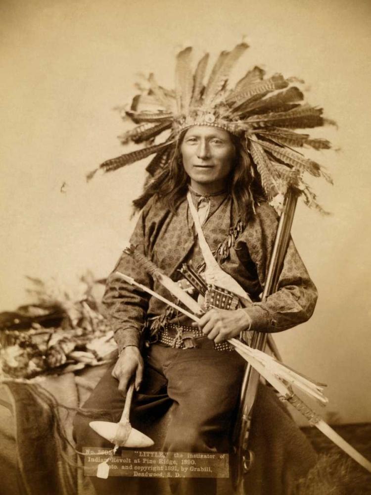 konfigurieren des Kunstdrucks in Wunschgröße Little, the instigator of Indian Revolt at Pine Ridge, 1890 I von Grabill, John C.H.