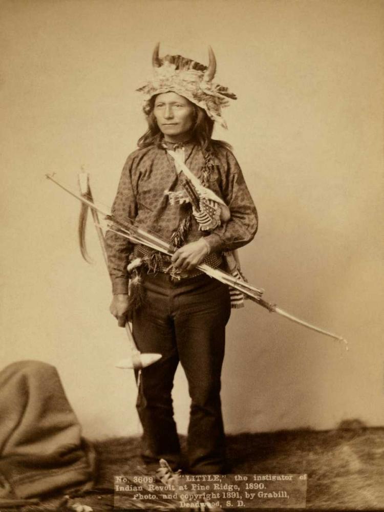 konfigurieren des Kunstdrucks in Wunschgröße Little, the instigator of Indian Revolt at Pine Ridge, 1890 II von Grabill, John C.H.