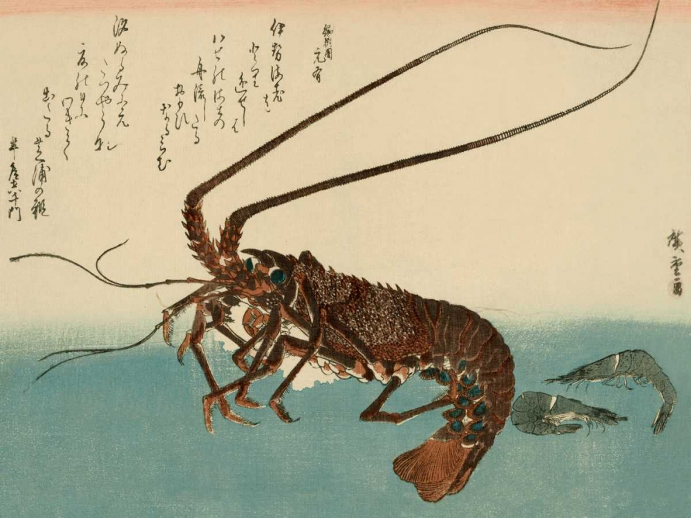 Shrimp and lobster von Hiroshige, Ando <br> max. 142 x 107cm <br> Preis: ab 10€