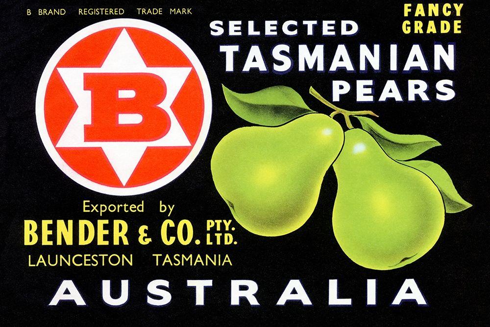 konfigurieren des Kunstdrucks in Wunschgröße Bender and Co. Selected Tasmanian Pears von Unknown