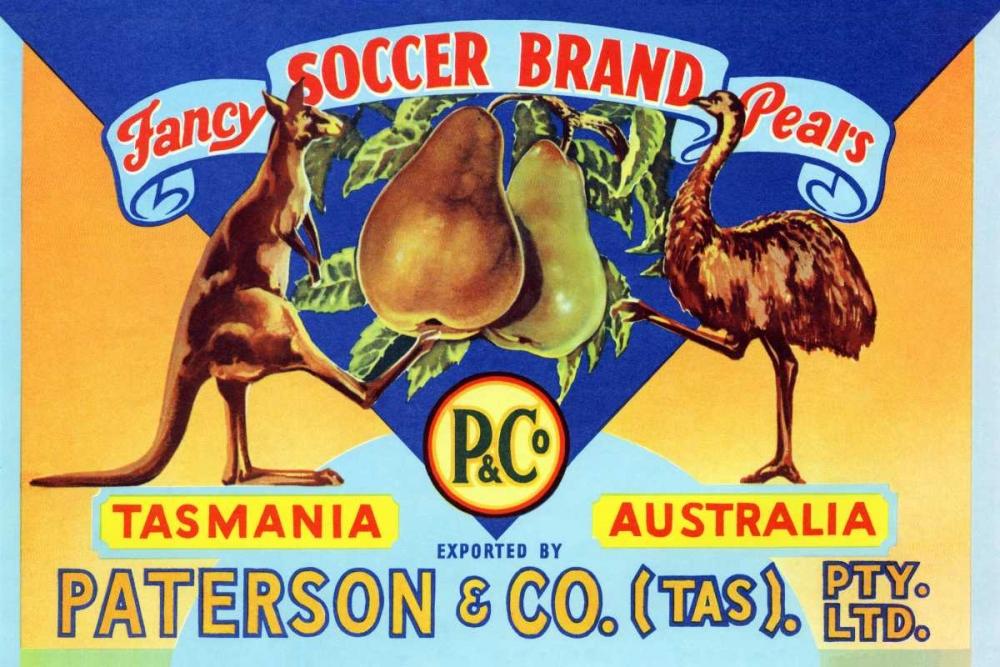 konfigurieren des Kunstdrucks in Wunschgröße Fancy Soccer Brand Pears von Unknown