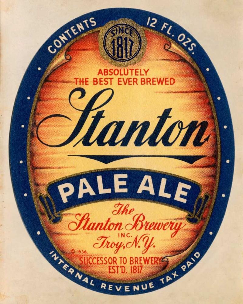 konfigurieren des Kunstdrucks in Wunschgröße Stanton Pale Ale Beer von Vintage Booze Labels