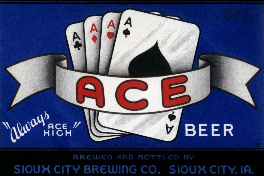 konfigurieren des Kunstdrucks in Wunschgröße Ace Beer von Vintage Booze Labels