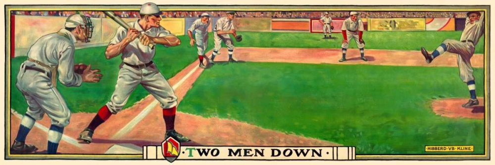 Two men down von Vintage Sports <br> max. 152 x 51cm <br> Preis: ab 10€