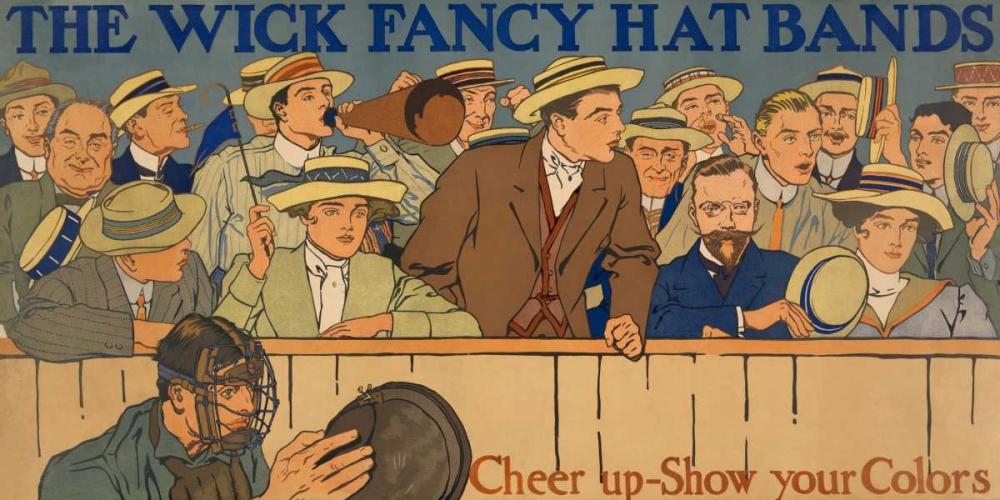 konfigurieren des Kunstdrucks in Wunschgröße Wick Fancy Hat Bands von Vintage Sports