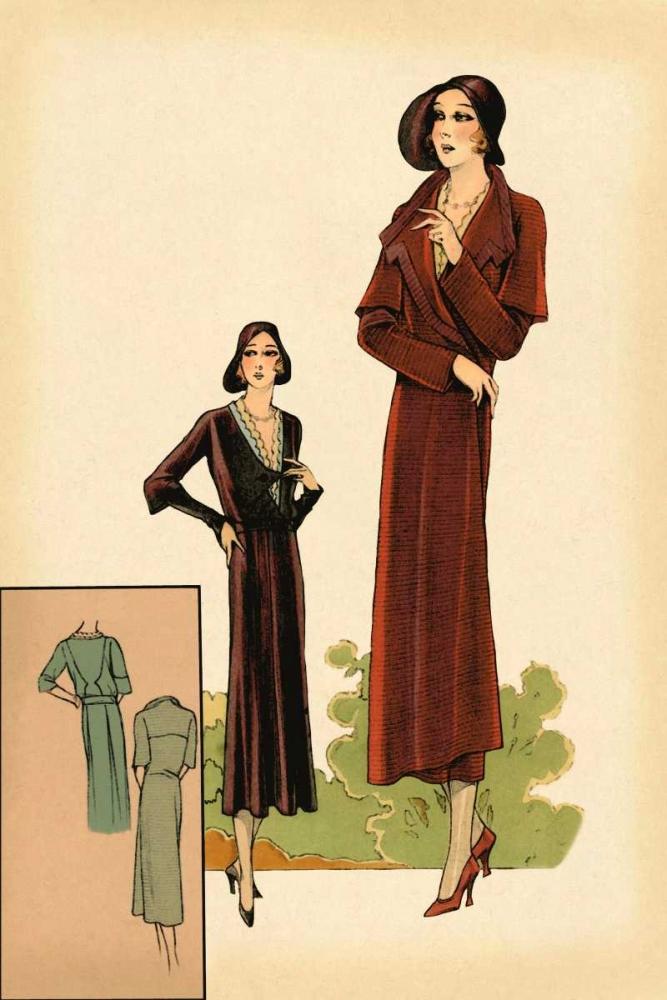 konfigurieren des Kunstdrucks in Wunschgröße Modeles Originaur: Burgundy Chic von Vintage Fashion