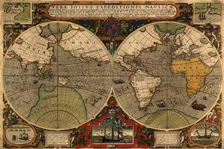 konfigurieren des Kunstdrucks in Wunschgröße Vera Totius Expeditionis Nautica von Ortelius, Abraham