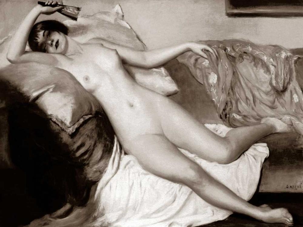 konfigurieren des Kunstdrucks in Wunschgröße One Lazy Afternoon von Vintage Nudes