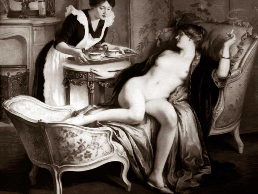 konfigurieren des Kunstdrucks in Wunschgröße In Her Quarters von Vintage Nudes