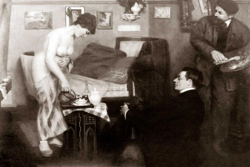 konfigurieren des Kunstdrucks in Wunschgröße In the Studio von Vintage Nudes