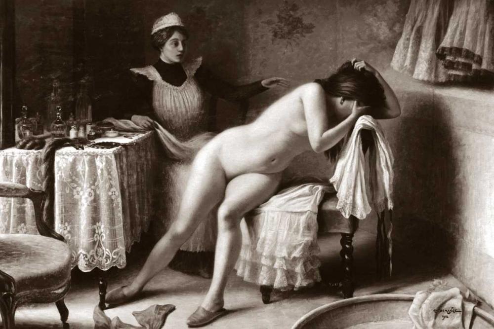 konfigurieren des Kunstdrucks in Wunschgröße Crying Nude von Vintage Nudes