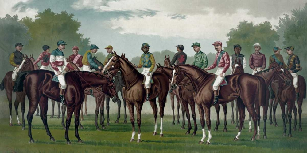 konfigurieren des Kunstdrucks in Wunschgröße Celebrated winning horses and jockeys of the American turf von Currier and Ives
