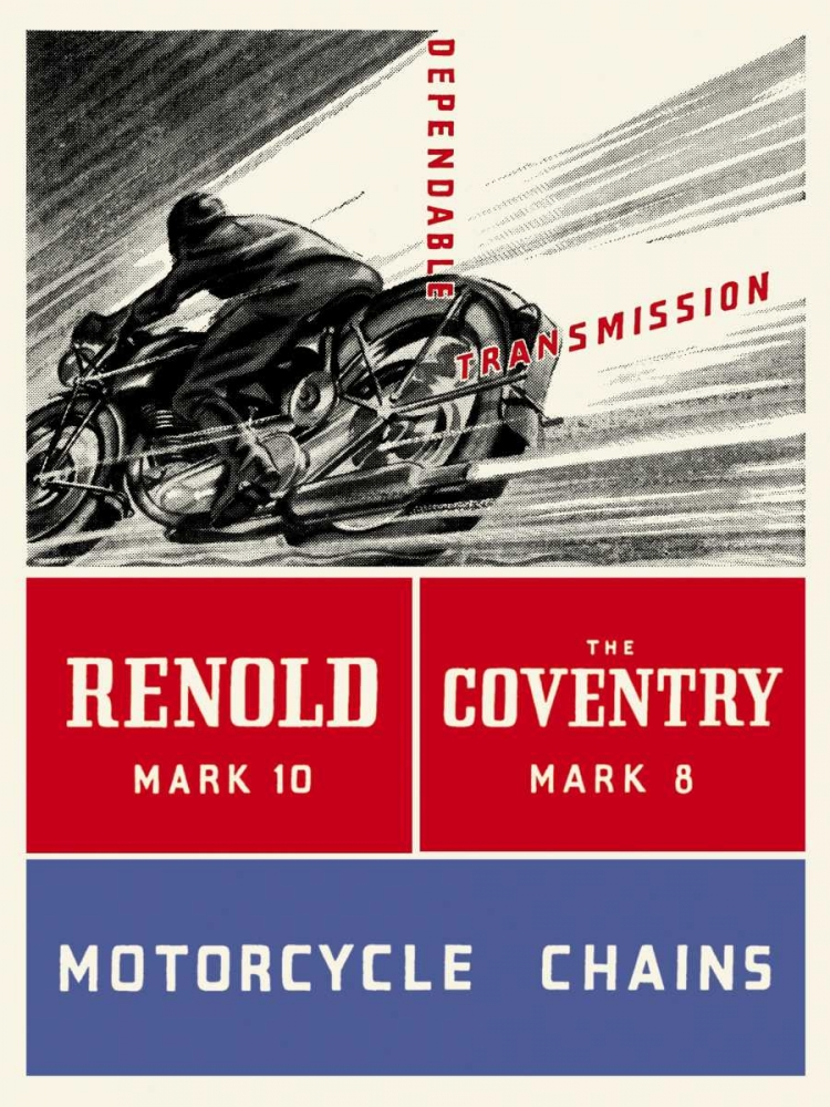 konfigurieren des Kunstdrucks in Wunschgröße Reynold Mark 10 Motorcycle Chains von Unknown