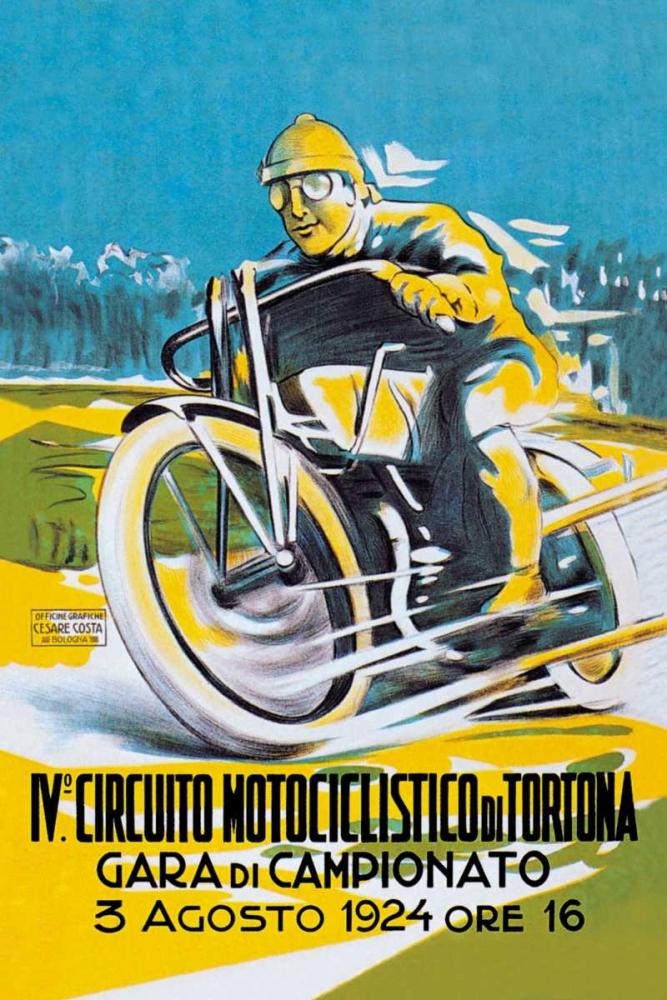 konfigurieren des Kunstdrucks in Wunschgröße 4th Motorcycle Circuit of Tortona von Unknown