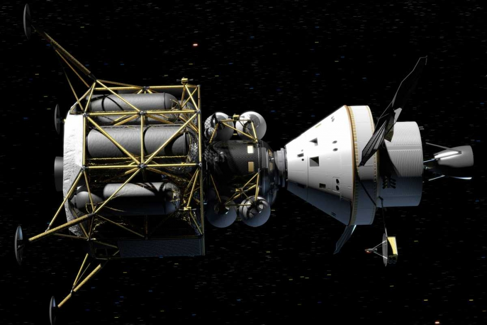 Altair and Orion spacecraft: conceptual rendering von NASA <br> max. 137 x 91cm <br> Preis: ab 10€