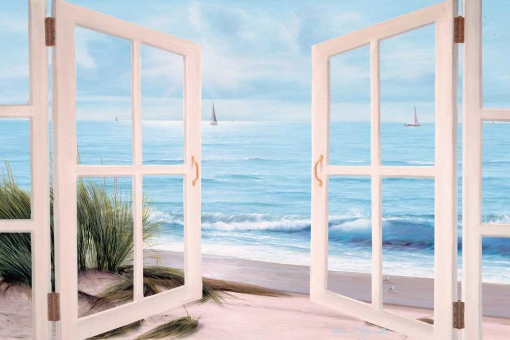 Sandpiper Beach through Door von Romanello, Diane <br> max. 165 x 109cm <br> Preis: ab 10€