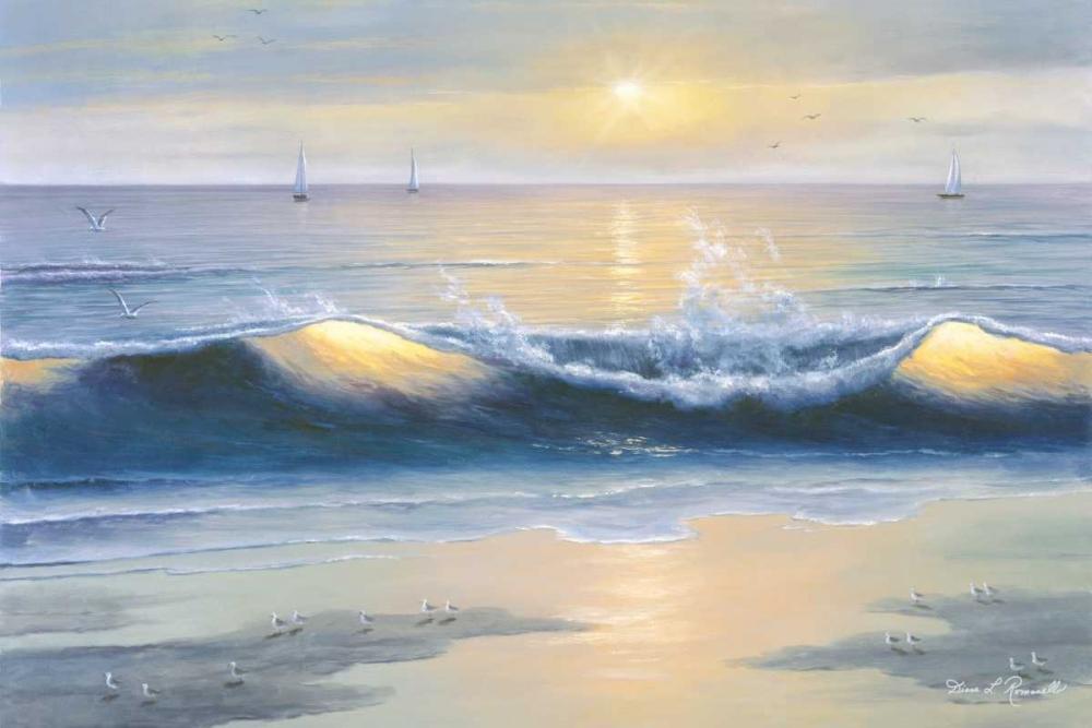 Blue Waves von Romanello, Diane <br> max. 165 x 109cm <br> Preis: ab 10€