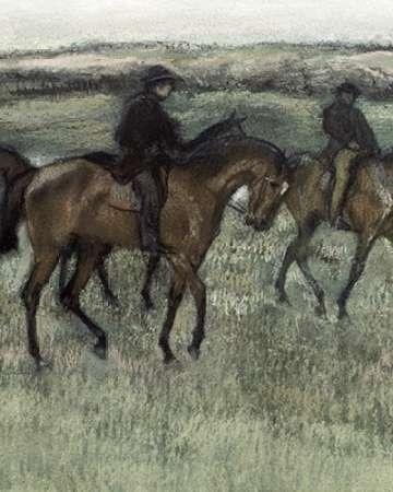 konfigurieren des Kunstdrucks in Wunschgröße Race Horses (center) von Degas, Edgar