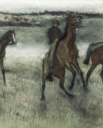 konfigurieren des Kunstdrucks in Wunschgröße Race Horses (right) von Degas, Edgar
