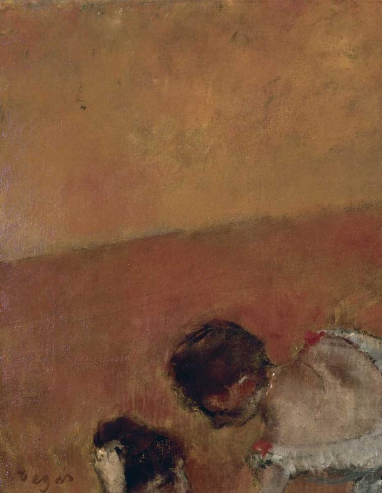 konfigurieren des Kunstdrucks in Wunschgröße Danseuses Montant Un Escalier - left von Degas, Edgar