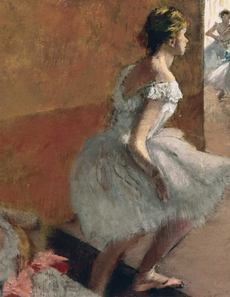 konfigurieren des Kunstdrucks in Wunschgröße Danseuses Montant Un Escalier - center von Degas, Edgar