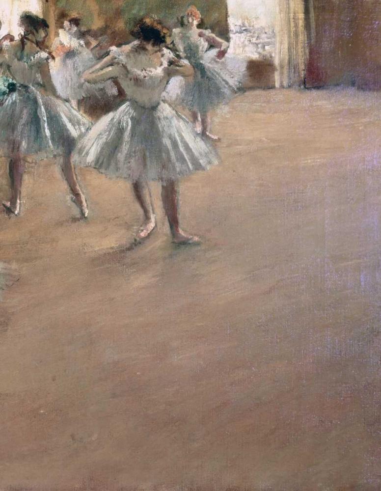 konfigurieren des Kunstdrucks in Wunschgröße Danseuses Montant Un Escalier - right von Degas, Edgar
