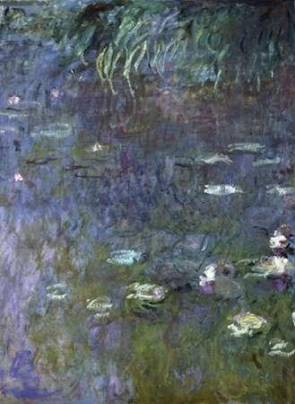konfigurieren des Kunstdrucks in Wunschgröße Water Lilies: Morning, c. 1914-26 (right) von Monet, Claude