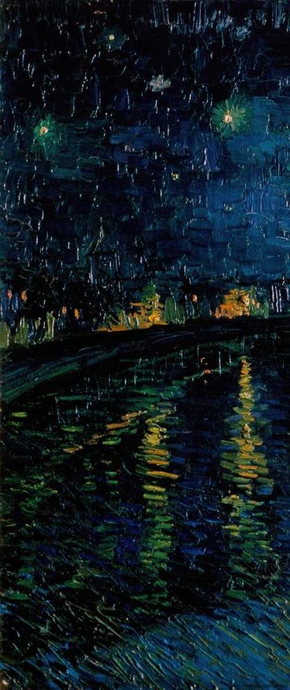 konfigurieren des Kunstdrucks in Wunschgröße Starlight Over the Rhone - left von Van Gogh, Vincent