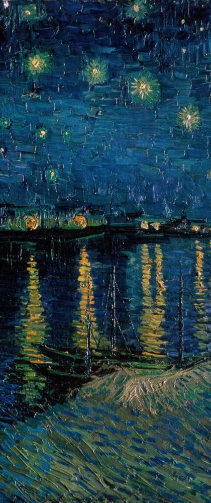 konfigurieren des Kunstdrucks in Wunschgröße Starlight Over the Rhone - center von Van Gogh, Vincent