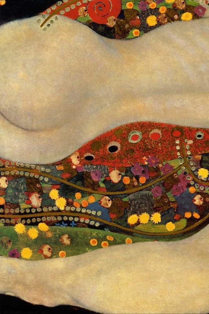 konfigurieren des Kunstdrucks in Wunschgröße Sea Serpents V - left von Klimt, Gustav