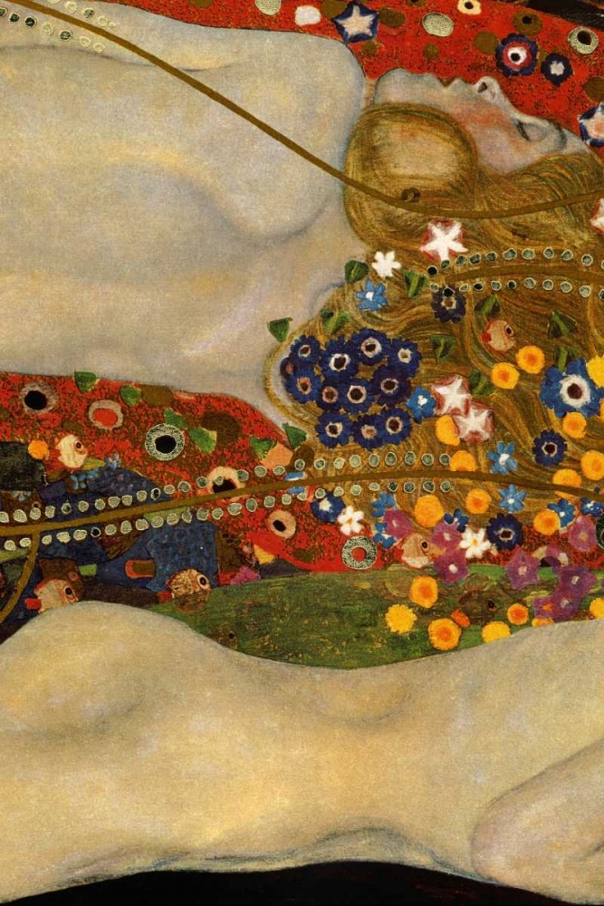 Sea Serpents V - center von Klimt, Gustav <br> max. 61 x 91cm <br> Preis: ab 10€