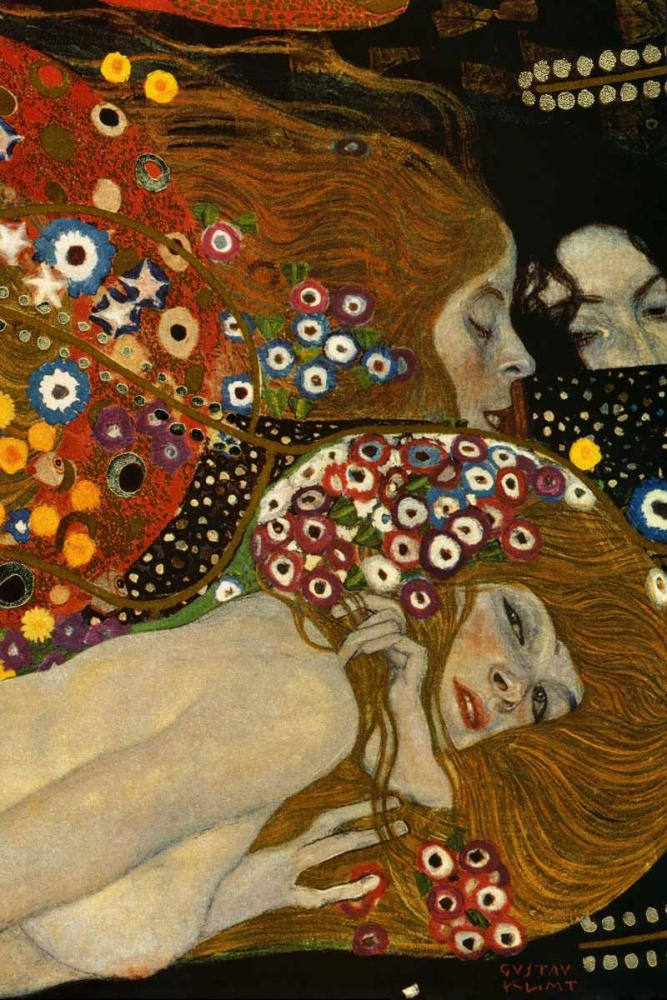 Sea Serpents V - right von Klimt, Gustav <br> max. 61 x 91cm <br> Preis: ab 10€