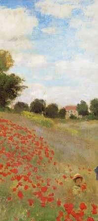 konfigurieren des Kunstdrucks in Wunschgröße Field Of Poppies (Les Coquelicots) 1873 (center) von Monet, Claude