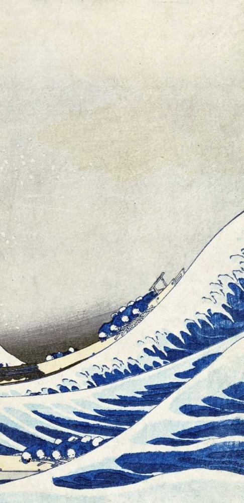 konfigurieren des Kunstdrucks in Wunschgröße The Great Wave of Kanagawa - right von Hokusai