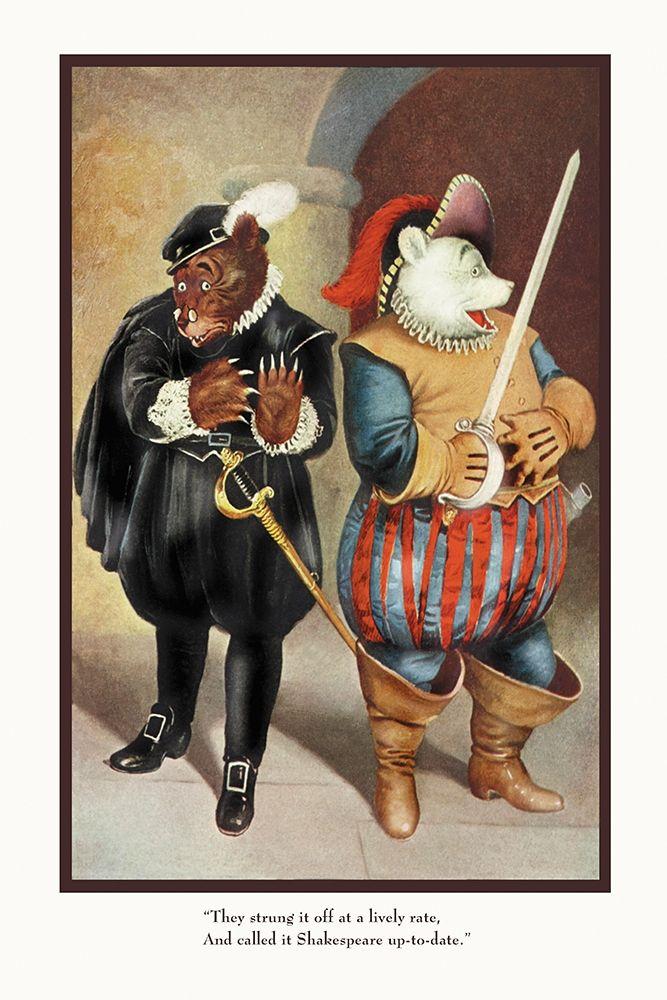 konfigurieren des Kunstdrucks in Wunschgröße Teddy Roosevelts Bears: Shakespeare von Culver, R.K.