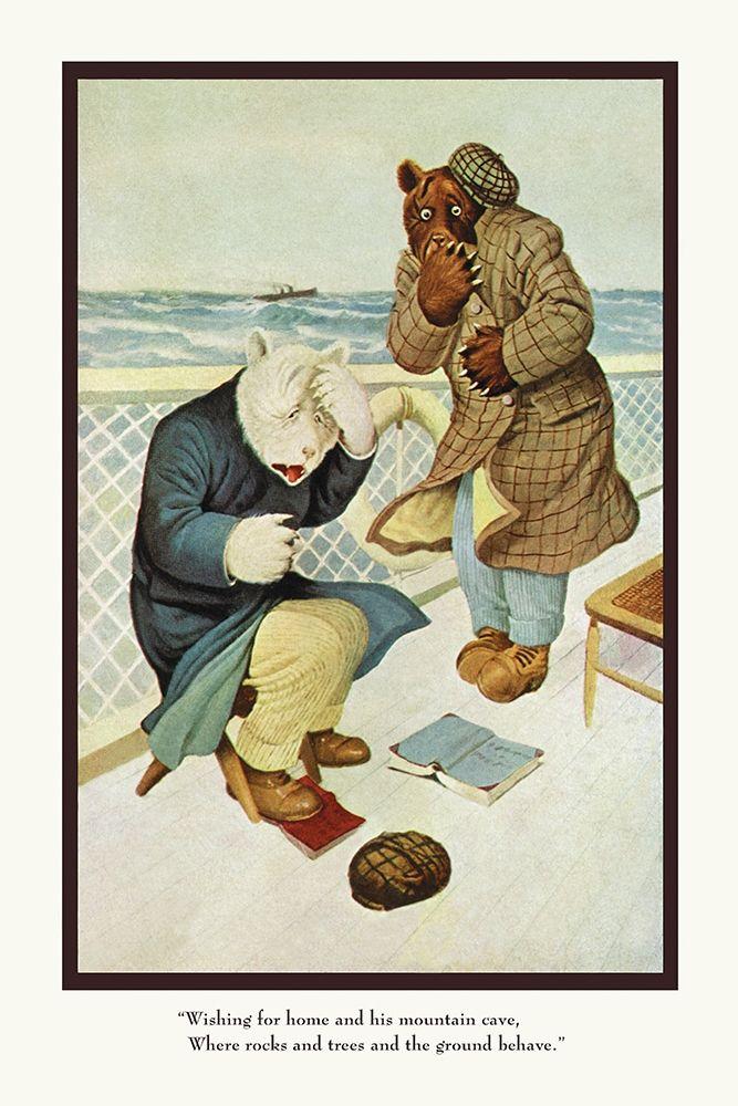 konfigurieren des Kunstdrucks in Wunschgröße Teddy Roosevelts Bears: Teddy B and Teddy G Are Seasick von Culver, R.K.