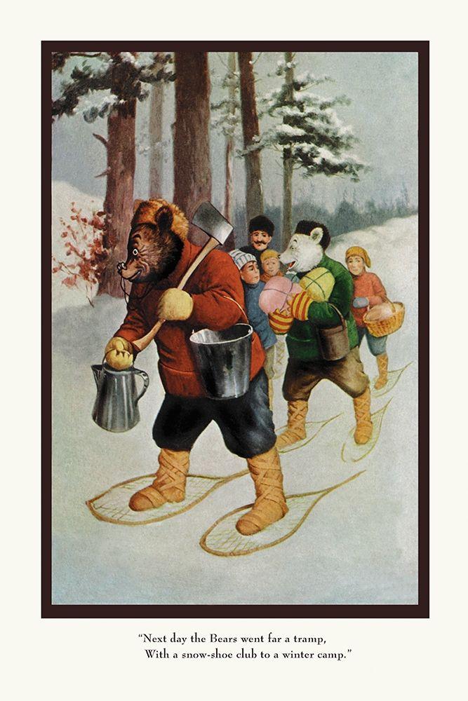 konfigurieren des Kunstdrucks in Wunschgröße Teddy Roosevelts Bears: The Snow-Shoe Club von Culver, R.K.